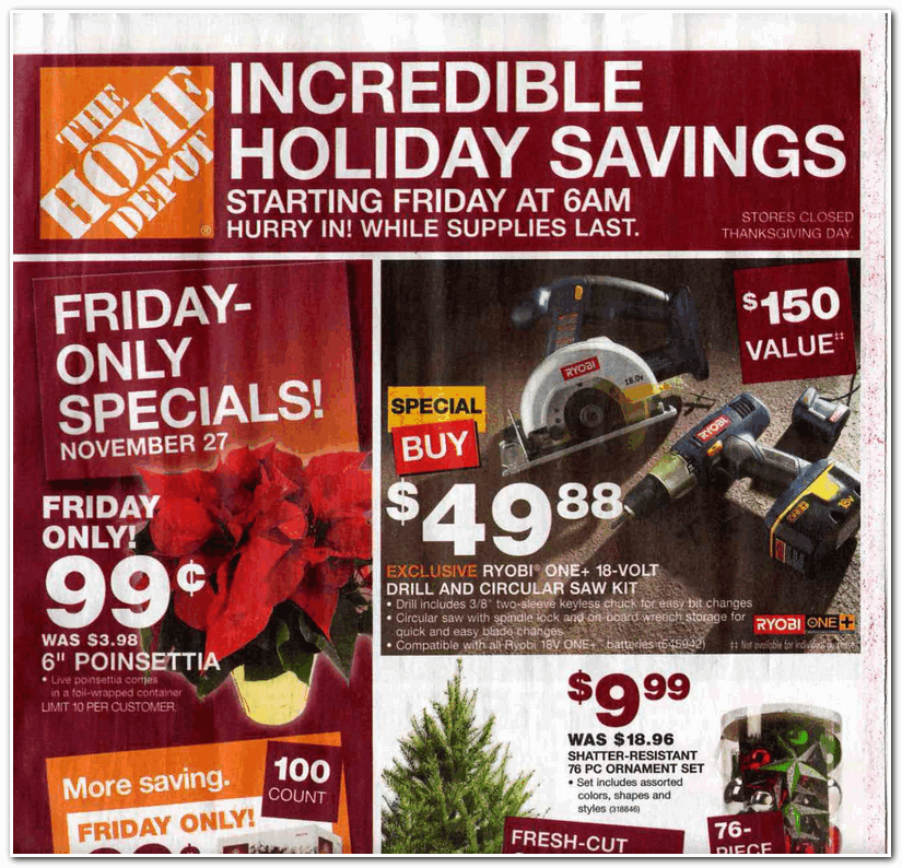 Home Depot 2009 Black Friday Ad Black Friday Archive