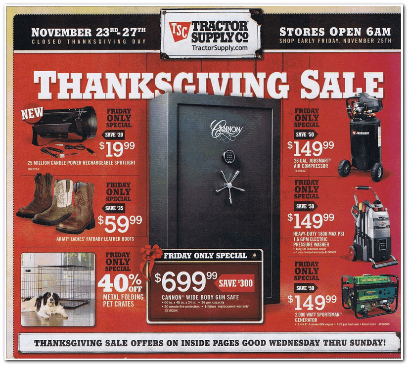 graphic about Printable Tractor Supply Coupon named Tractor shipping and delivery co black friday offers : Vancouver wa coupon weblog