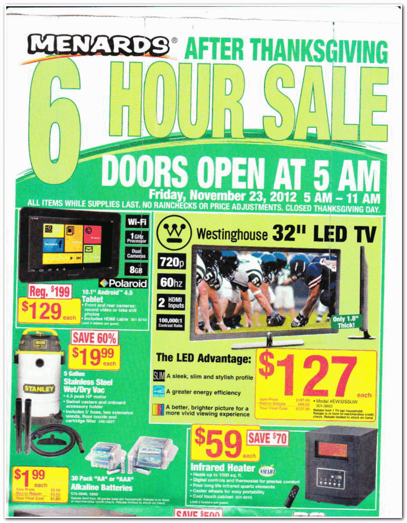 Uncategorized Black Friday Ad Menards menards 2012 black friday ad archive ad