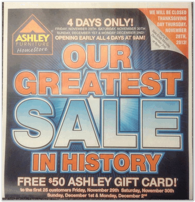 Ashley Furniture 2013 Black Friday Ad