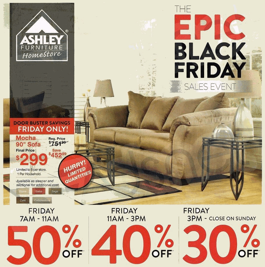 Black Friday Couch Deals: Ashley Furniture 2014 Black Friday Ad