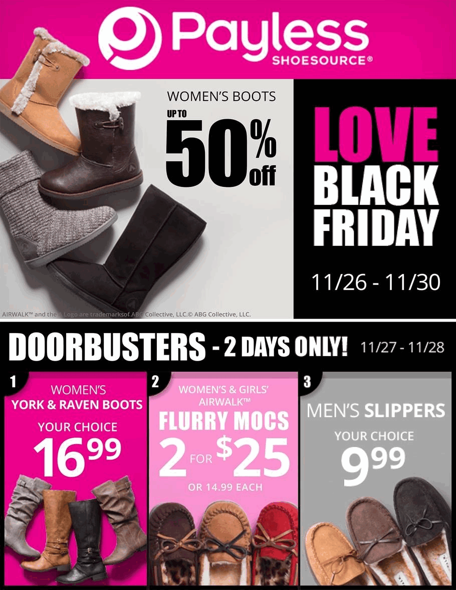 Black Friday Ads  Payless Shoes
