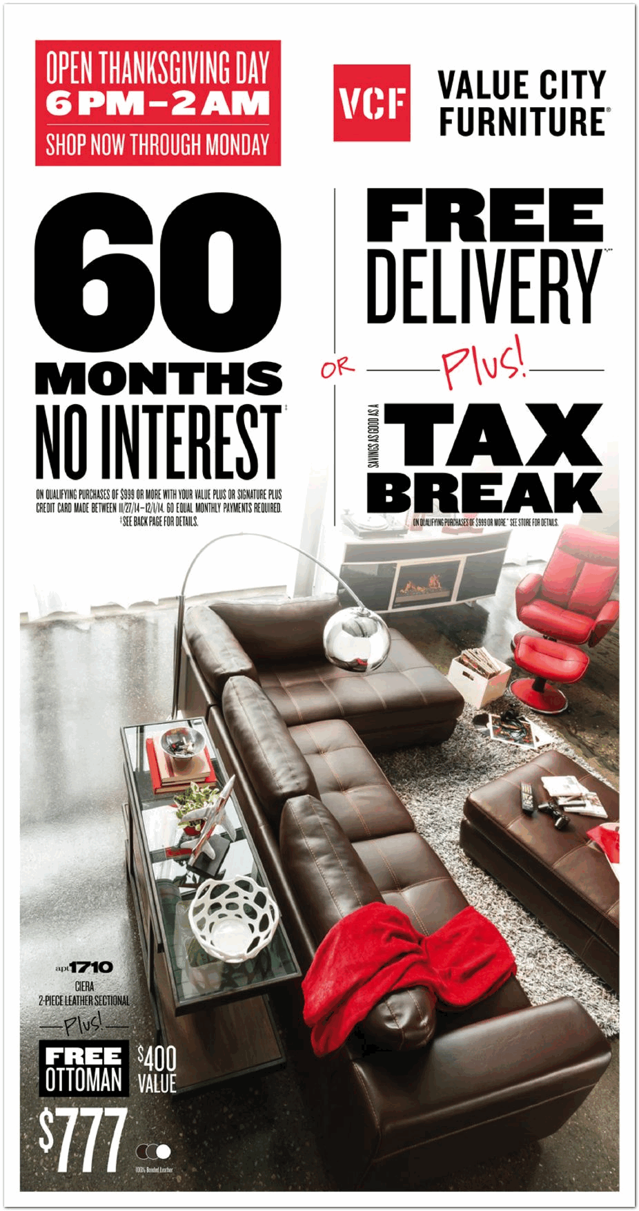 Value City Furniture 2014 Black Friday Ad