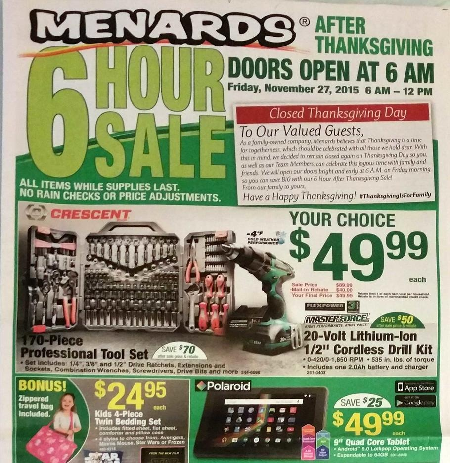 Uncategorized Black Friday Ad Menards menards 2015 black friday ad archive ads from the past