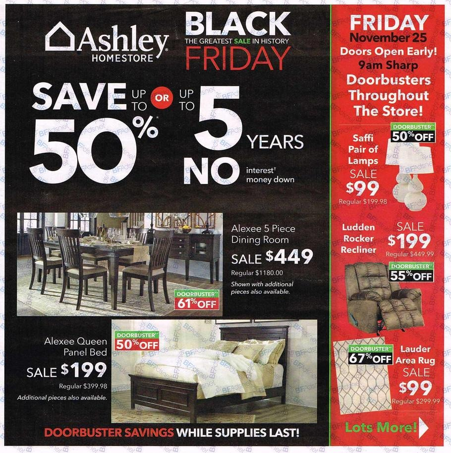 Furniture Store Ads: Ashley Furniture 2016 Black Friday Ad