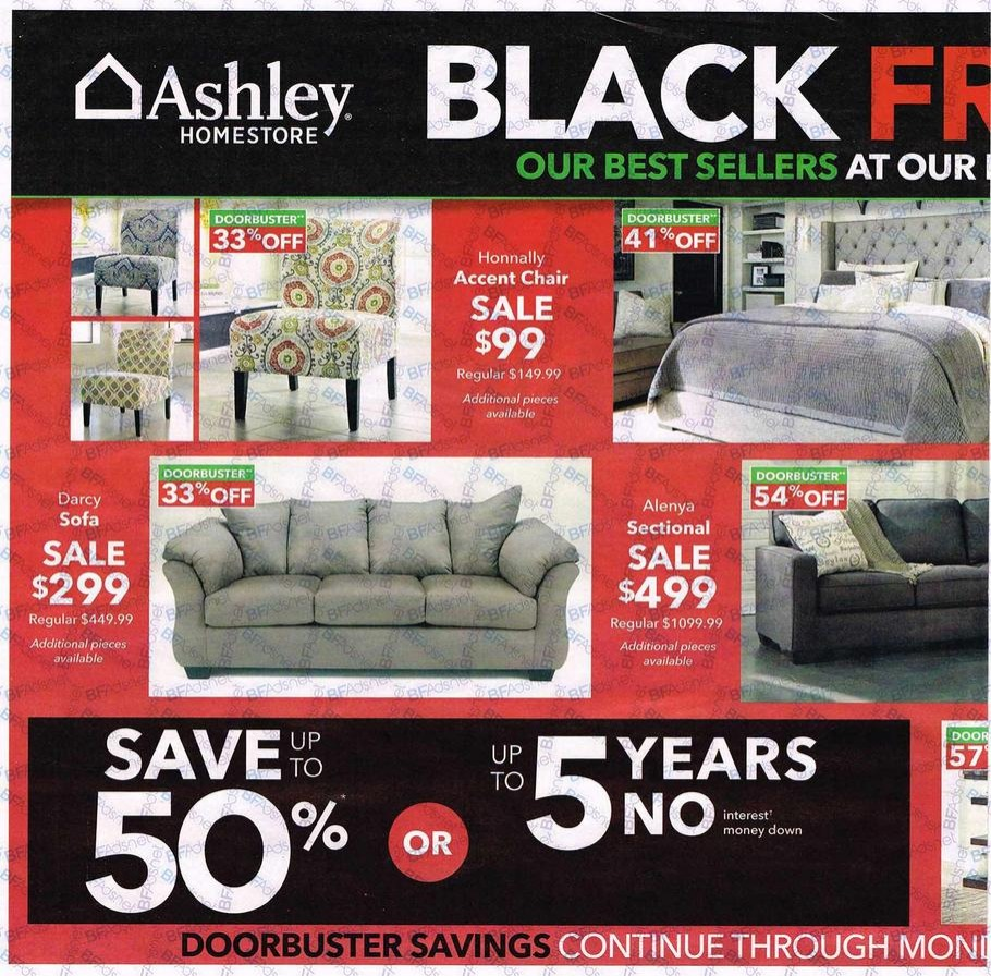 Ashley furniture 2016 black friday ad black friday for Furniture year end sale 2017