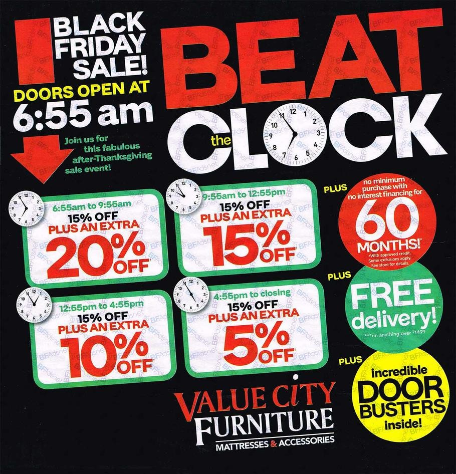 Value City Furniture 2016 Black Friday Ad